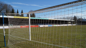 Das Röntgen-Stadion, Spielstätte des FCR, in der Wupperstr. 21 in RS-Lennep