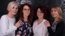 Mitarbeiter Maria, Inhaber Nadine und Diana Mitarbeiter Lena (v.l.)
