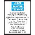 Huber Sanitärtechnik Sanitärinstallation GmbH u. Ko.KG Sanitärinstallation