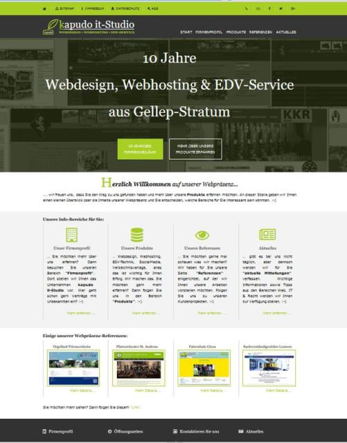 Screenshot Webpräsenz