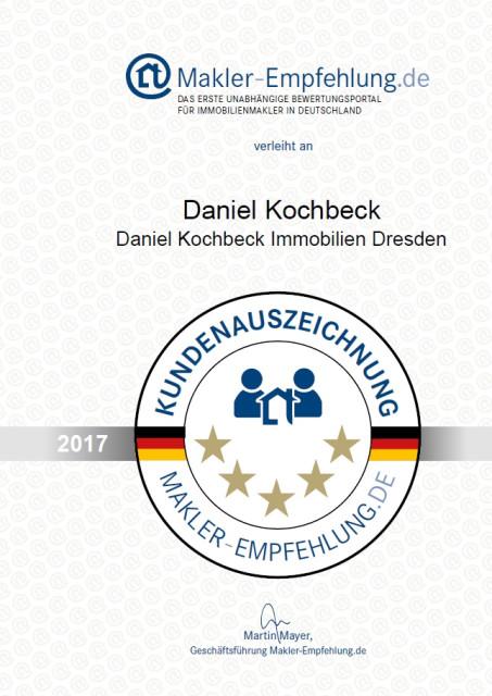 Jahresurkunde 2017 Makler Empfehlung