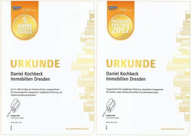 Jubiläums Urkunde Premium Partner