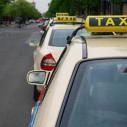 Bild: London-Taxi in Karlsruhe, Baden