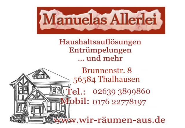 Bild: Manuelas Allerlei Haushaltsauflösungen       in Thalhausen, Kreis Neuwied
