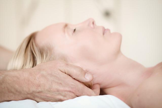 Entspannende Nackenmassage