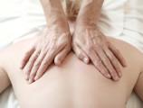 sanfte Rückenmassage