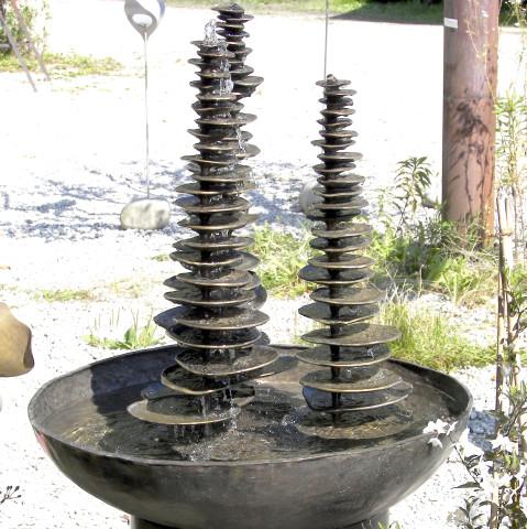 geschmiedeter Bronzebrunnen