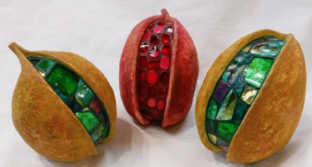 Mosaik in Naturfrucht