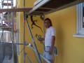 Fassadenarbeit