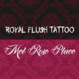 Logo Royal Flush Tattoo u. Schmuck & Mel Rose Place Nageldesign Studio