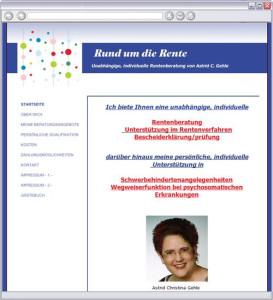 Logo Rund um die Rente Astrid Christina Gehle